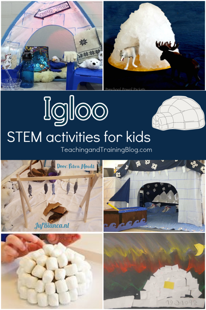 Igloo stem activities for kids