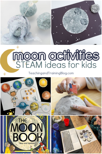 moon activities STEAM ideas for kids to learn about the moon